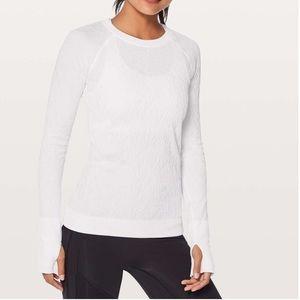 New LULULEMON Rest Less Pullover White Shirt 10